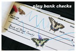 Free Butterfly Bank Checks for Kids