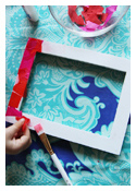 Tissue Paper Decoupage Picture Frame
